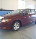 honda civic 2012 burgundy sedan lx gasoline 4 cylinders front wheel drive automatic 28557