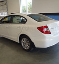 honda civic 2012 white sedan ex gasoline 4 cylinders front wheel drive automatic 28557
