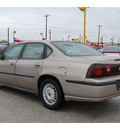 chevrolet impala 2001 tan sedan gasoline 6 cylinders front wheel drive automatic 77037