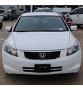 honda accord 2010 white sedan lx gasoline 4 cylinders front wheel drive automatic 77065