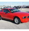 ford mustang 2005 red coupe v6 deluxe gasoline 6 cylinders rear wheel drive automatic 77388