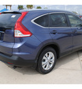 honda cr v 2012 blue suv ex l w dvd gasoline 4 cylinders front wheel drive automatic with overdrive 77065