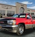gmc sierra 1500 1999 red pickup truck sle gasoline v8 rear wheel drive automatic 60915