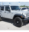 jeep wrangler unlimited 2008 silver suv rubicon gasoline 6 cylinders 4 wheel drive automatic 77388