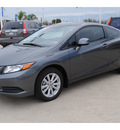 honda civic 2012 dk  gray coupe ex gasoline 4 cylinders front wheel drive automatic 77065