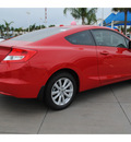honda civic 2012 red coupe ex w navi gasoline 4 cylinders front wheel drive automatic 77065
