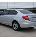 honda civic 2012 silver sedan ex l gasoline 4 cylinders front wheel drive automatic 77065