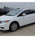 honda civic 2012 white sedan ex gasoline 4 cylinders front wheel drive automatic 77065