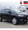mitsubishi outlander sport 2012 black suv se gasoline 4 cylinders front wheel drive automatic 78238