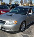 subaru legacy 2006 gray sedan 2 5 gt limited specb gasoline 4 cylinders all whee drive 6 speed manual 94063