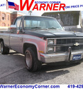 chevrolet c k 10 series 1983 silver black pickup truck c10 silverado gasoline v8 rear wheel drive automatic 45840