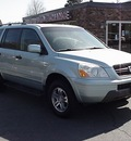 honda pilot 2003 lt  blue suv ex gasoline 6 cylinders all whee drive automatic 06019