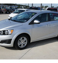 chevrolet sonic 2012 silver hatchback ls gasoline 4 cylinders front wheel drive automatic 77090