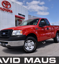 ford f 150 2008 red pickup truck xl styleside gasoline 6 cylinders 2 wheel drive automatic 32771