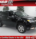 acura mdx 2008 black suv w power tailgate w sport gasoline 6 cylinders all whee drive automatic 91731