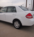 nissan versa 2010 white sedan 1 8 s gasoline 4 cylinders front wheel drive automatic 75228