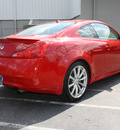 infiniti g37 coupe 2009 red coupe sport gasoline 6 cylinders rear wheel drive 6 speed manual 27616
