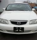 mazda 626 2002 white sedan lx v6 gasoline 6 cylinders front wheel drive automatic 60411