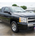 chevrolet silverado 1500 2010 black pickup truck ls flex fuel 8 cylinders 2 wheel drive 4 speed automatic 77090