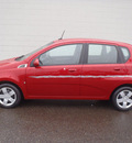 chevrolet aveo 2009 red hatchback aveo5 ls gasoline 4 cylinders front wheel drive 5 speed manual 98371