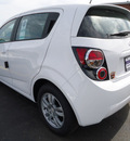 chevrolet sonic 2012 white hatchback ls gasoline 4 cylinders front wheel drive automatic 60007