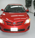 toyota corolla 2011 red sedan le gasoline 4 cylinders front wheel drive automatic 91731