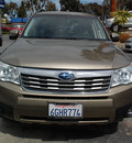 subaru forester 2009 gold suv 2 5 x l l  bean gasoline 4 cylinders all whee drive automatic 94063
