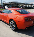 chevrolet camaro 2012 orange coupe gasoline 6 cylinders rear wheel drive automatic 76087