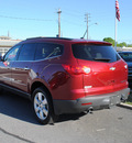 chevrolet traverse 2010 red suv ltz gasoline 6 cylinders front wheel drive automatic 27591
