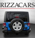 jeep wrangler unlimited 2011 blue suv sport gasoline 6 cylinders 4 wheel drive automatic 60546