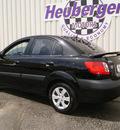 kia rio 2009 black sedan lx gasoline 4 cylinders front wheel drive automatic 80905