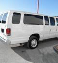 ford econoline wagon 2011 white van e 350 sd xl flex fuel 8 cylinders rear wheel drive automatic 34731