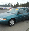 ford escort 1998 green wagon se gasoline 4 cylinders front wheel drive automatic 99208