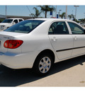 toyota corolla 2007 white sedan ce gasoline 4 cylinders front wheel drive automatic with overdrive 77065