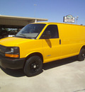 chevrolet express cargo 2006 yellow van 3500 gasoline 8 cylinders rear wheel drive automatic 75503