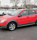 pontiac vibe 2005 red hatchback gasoline 4 cylinders front wheel drive automatic with overdrive 55124