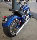 harley davidson fxcwc 2009 blue rocker custom 2 cylinders 6 speed 45342