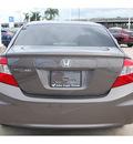 honda civic 2012 gray sedan lx gasoline 4 cylinders front wheel drive automatic 77065