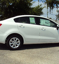 kia rio 2013 clear white sedan lx gasoline 4 cylinders front wheel drive automatic 32901