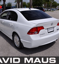 honda civic 2007 white sedan hybrid hybrid 4 cylinders front wheel drive automatic 32771