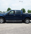 ford f 150 2010 dk  blue xlt flex fuel 8 cylinders 4 wheel drive automatic with overdrive 46168