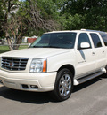cadillac escalade esv 2004 white suv platinum edition gasoline 8 cylinders all whee drive automatic 80110