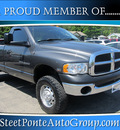 dodge ram 2500 2004 gray pickup truck st gasoline 8 cylinders 4 wheel drive automatic 13350