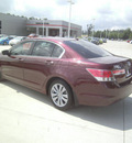 honda accord 2011 dk  red sedan ex l gasoline 4 cylinders front wheel drive automatic 75503