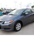 honda civic 2012 dk  gray coupe lx gasoline 4 cylinders front wheel drive automatic 77065