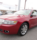 lincoln mkz 2009 red sedan premium gasoline 6 cylinders front wheel drive automatic 37087