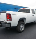 gmc sierra 2500hd 2012 white work truck gasoline 8 cylinders 4 wheel drive 6 speed automatic 76206