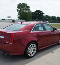 cadillac cts v 2012 red sedan gasoline 8 cylinders rear wheel drive automatic 76206