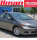 honda civic 2012 gray sedan ex gasoline 4 cylinders front wheel drive automatic 78233