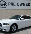 dodge charger 2012 white sedan se gasoline 6 cylinders rear wheel drive automatic 76011